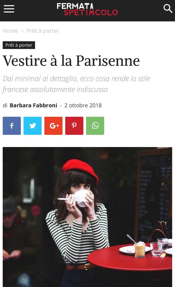 Vestire à la Parisienne