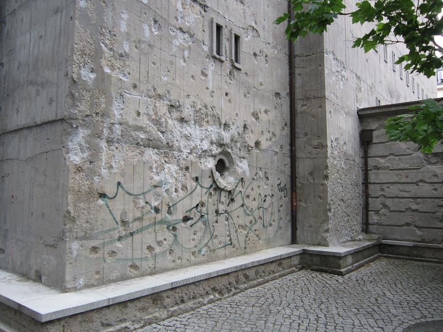 Bullet holes Berlin