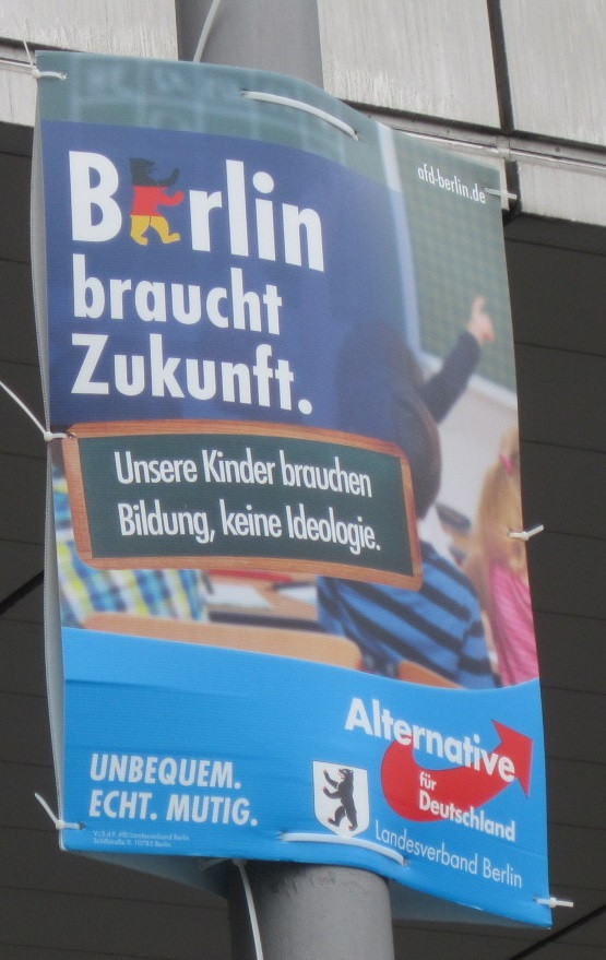 AfD election poster demanding education without ideology
