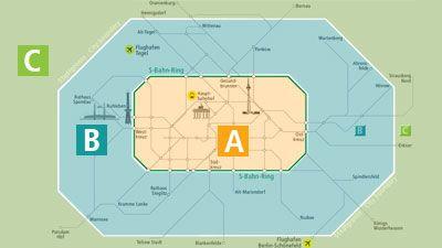 Berlin public transportation zones