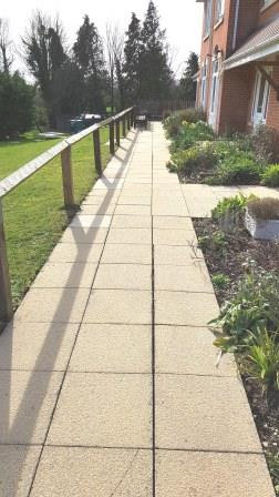 Care Home Paths After Cleaning
