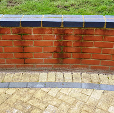 Brick Dwarf Wall -Before Cleaning
