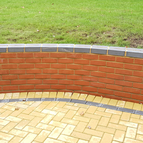 Brick Dwarf Wall - After Cleaning