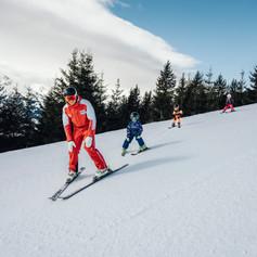 Skikurs direkt am Lechnerberg