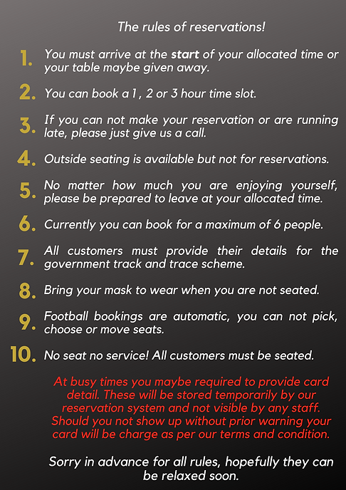 The 10 rules of reservations! You must a