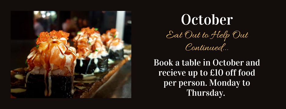 Eat Out to Help Out Continued... October