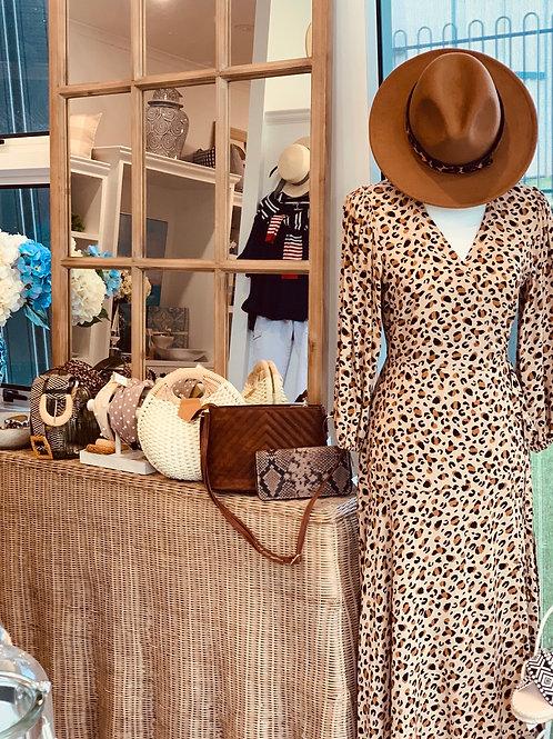 Leopard wrap dress ON SALE
