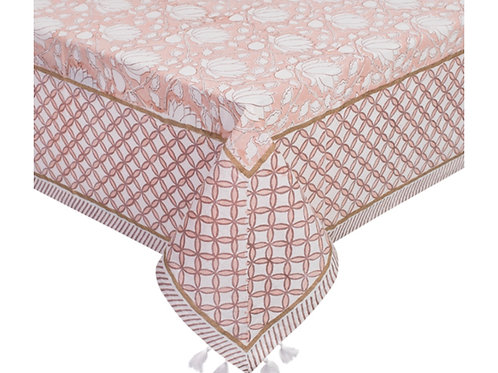 Rose' blush 6 seater tablecloth