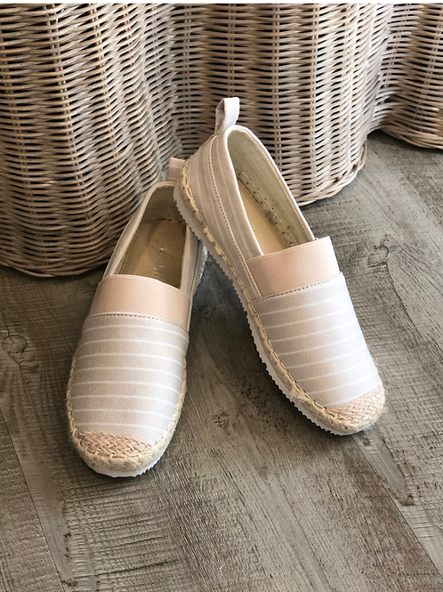 Beige/Pink espadrille shoes