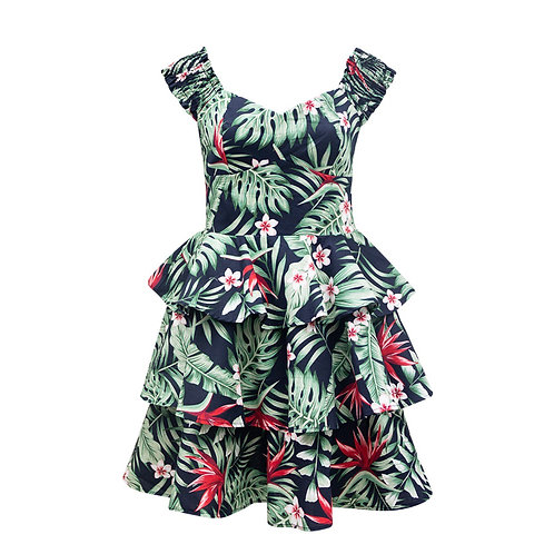 SALE - Tropical frill dress
