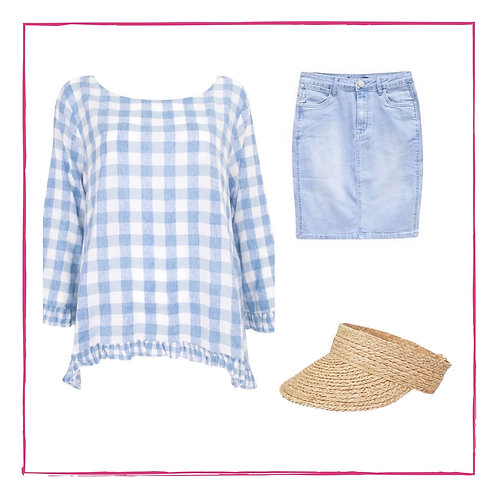 Baby blue gingham too