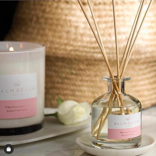 White rose and jasmine candle