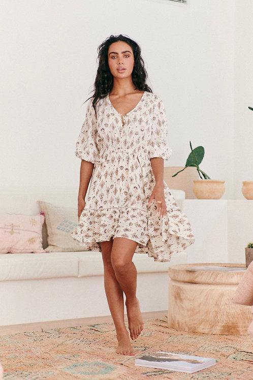 Natural boho dress