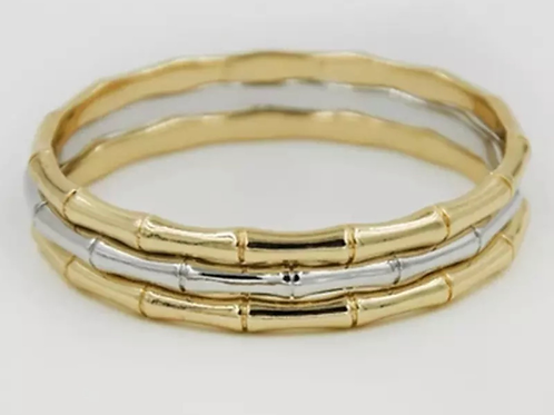 Metallic bamboo bangle 55 Cm