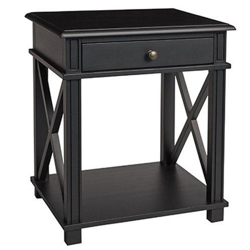 Manto bedside table black