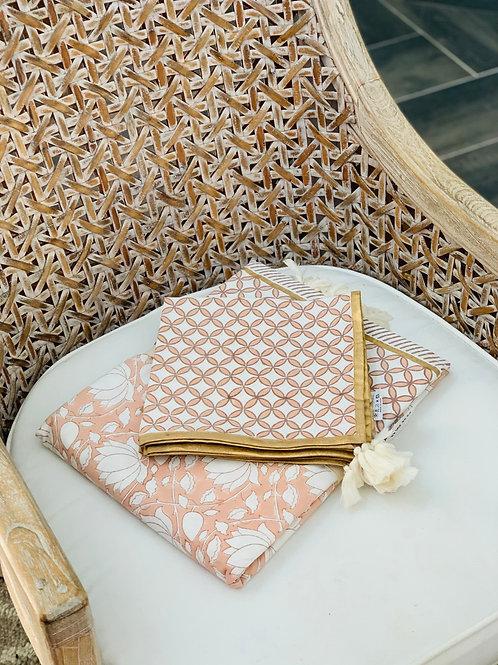 Rose' blush napkins set 4