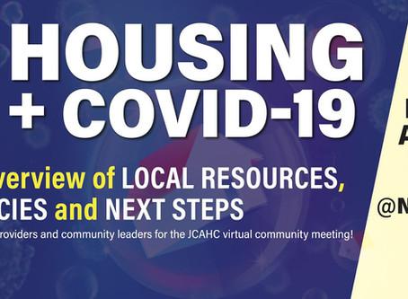 Housing + COVID19 Community Meeting