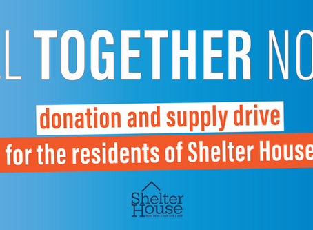 Donations and supplies for Shelter House