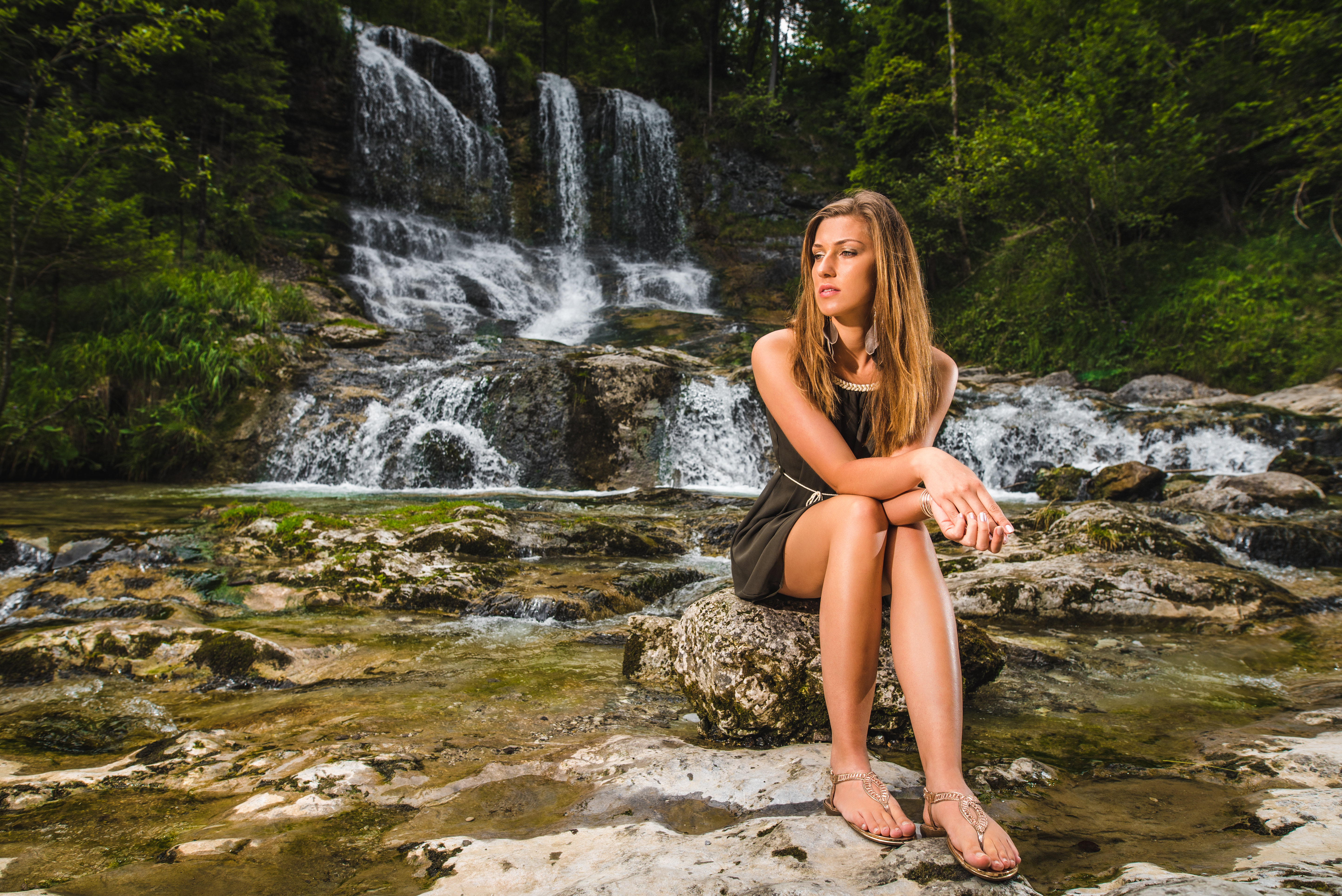Portrait - Girl - Waterfall