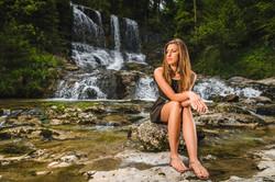 Portrait - Girl - Waterfall