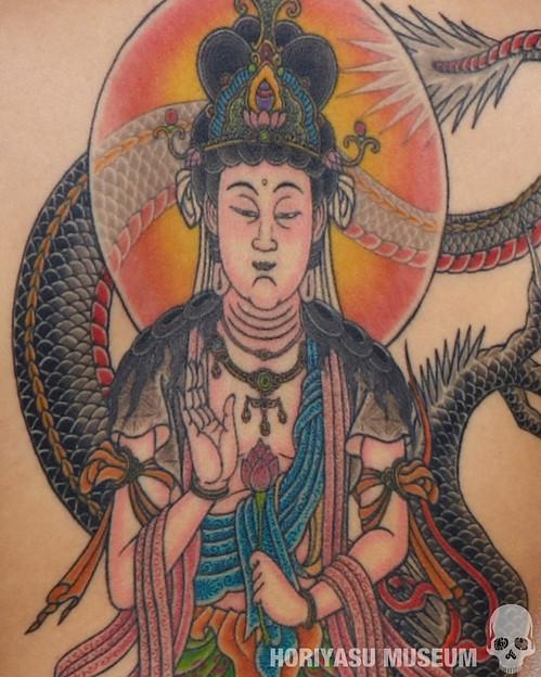 彫やす・虚空蔵菩薩と龍