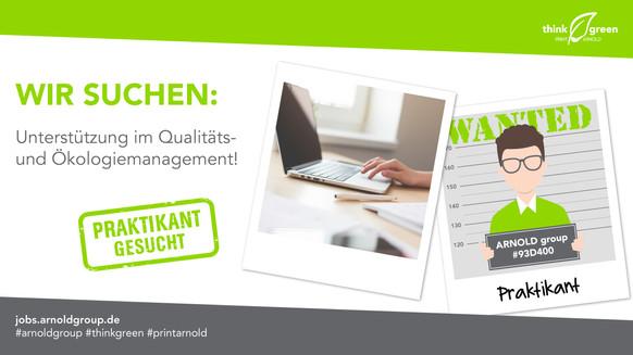 Praktikant – Qualitäts- und Ökologiemanagement