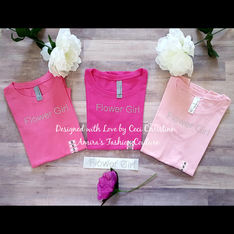 Flower Girl Swarovski Motif/ Shirts