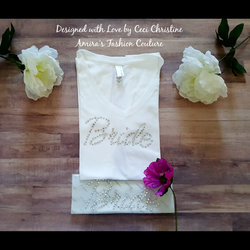 Bride Swarovski Motif/ Shirt
