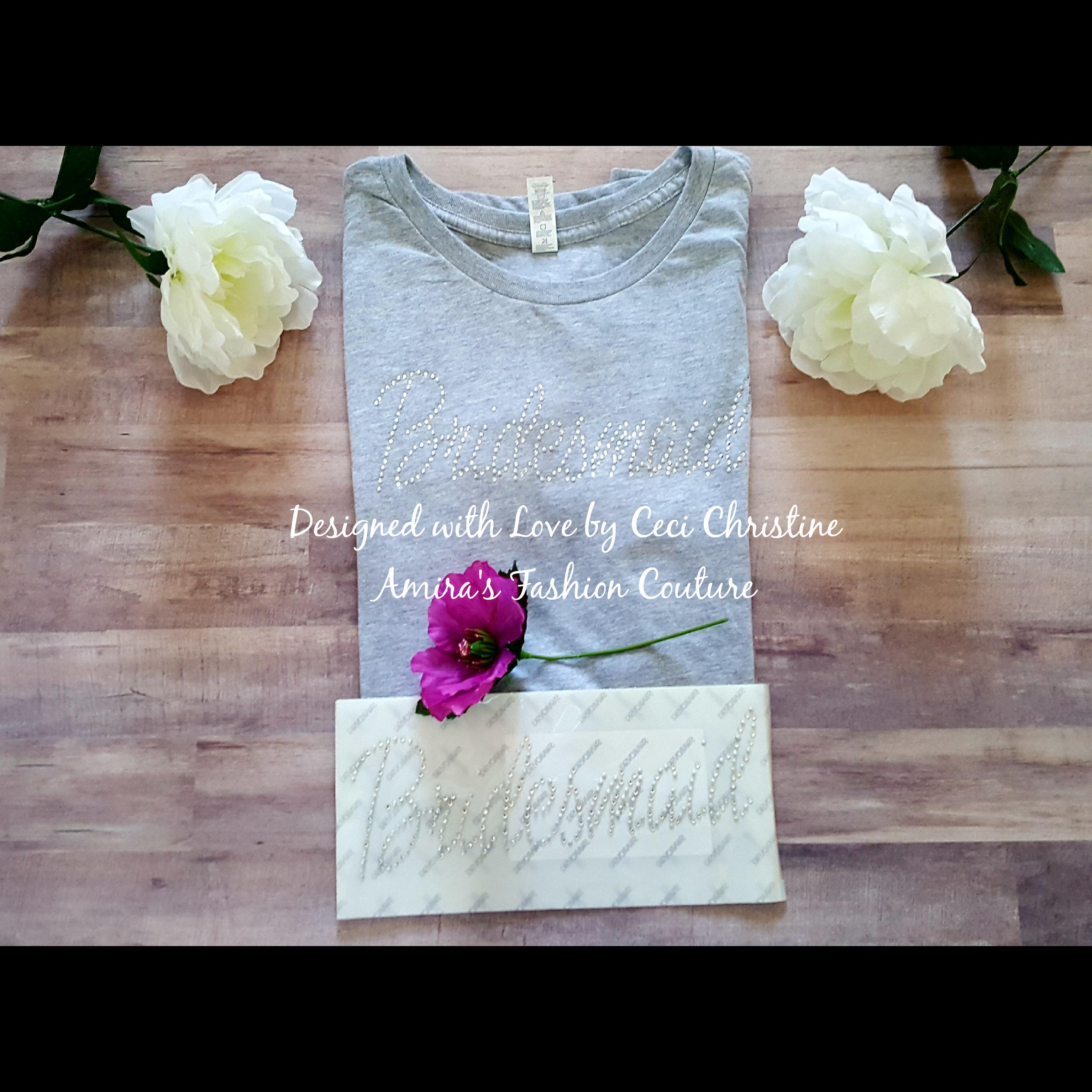 Bridesmaid Swarovski Motif/ Shirt