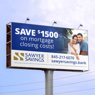 This billboard effectively promotes a special money-saving offer to passing motorists using important, but minimal copy with engaging photography.  Design while at CT Marketing.
