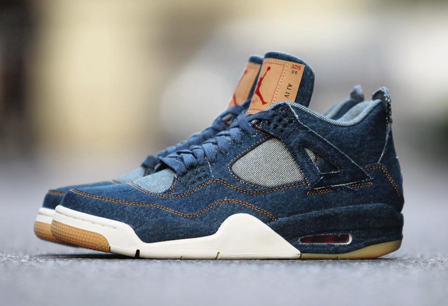 Levis Air Jordan 4 Denim Release Info Pricing