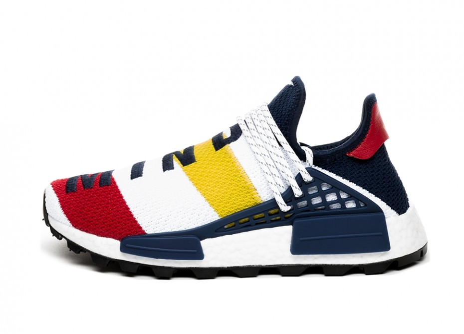 adidas x Pharrell Williams x BBC HU NMD (Ftwr White / Scarlet / Bright Yellow)