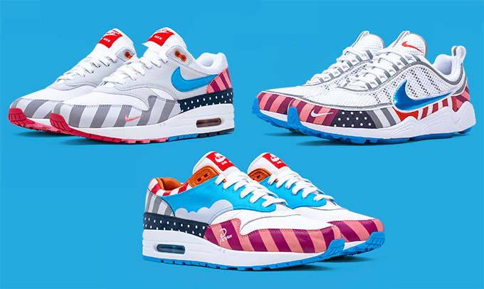 Nike x Parra Air Max 1 and Zoom Spiridon