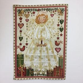 Dotty Daisies Christmas Angel handmade Advent calendar