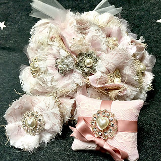 Dotty Daisies handmade wedding collection, forever bouquet, button hole for adults and children, ring cushin with co-ordinating ribbon