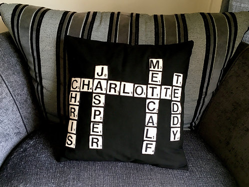 Family Scrabble Cushion