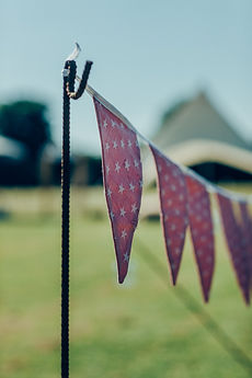 Dotty Daisies handmade double sided bunting for weddings and parties pink