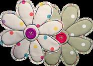 Dotty Daisies Witney Oxford double daisy logo Custom Handmade Cushions Bunting Shop