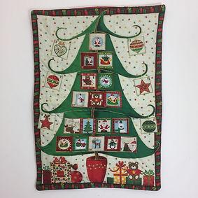 Dotty Daisies Christmas Tree handmade Advent calendar