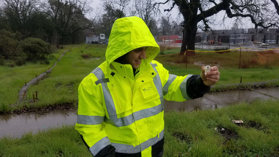 Alex Bermudez, CISEC-IT, received our Stormwater Pollution Hero Award for his excellent work in the field