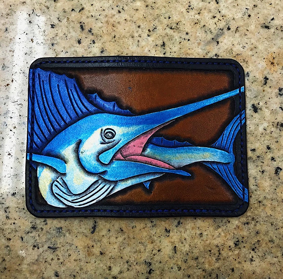 Sailfish card holder