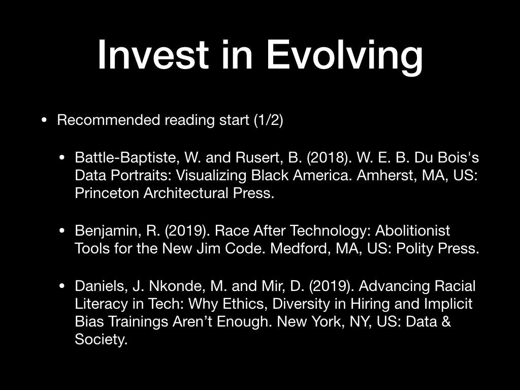 Invest in Evolving, I