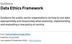 Data Ethics Framework
