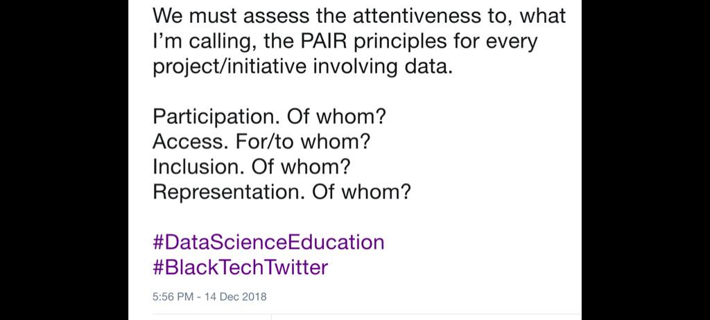 Brandeis Marshall's December 2018 tweet