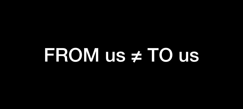 FROM us does not equal TO us