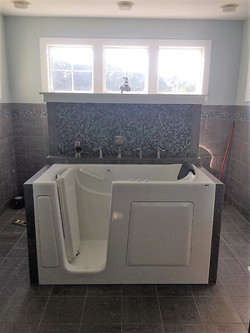 new tub and tile