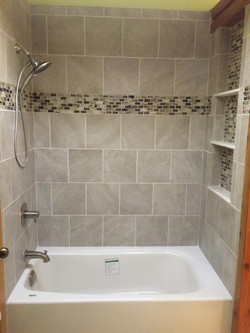 new tile and tub
