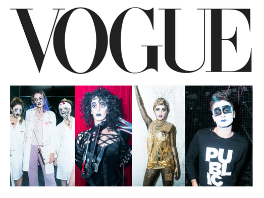 Vogue Magazine features our Halloween Production for the Public Hotel