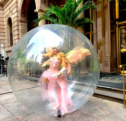 Bubble Installation Performers