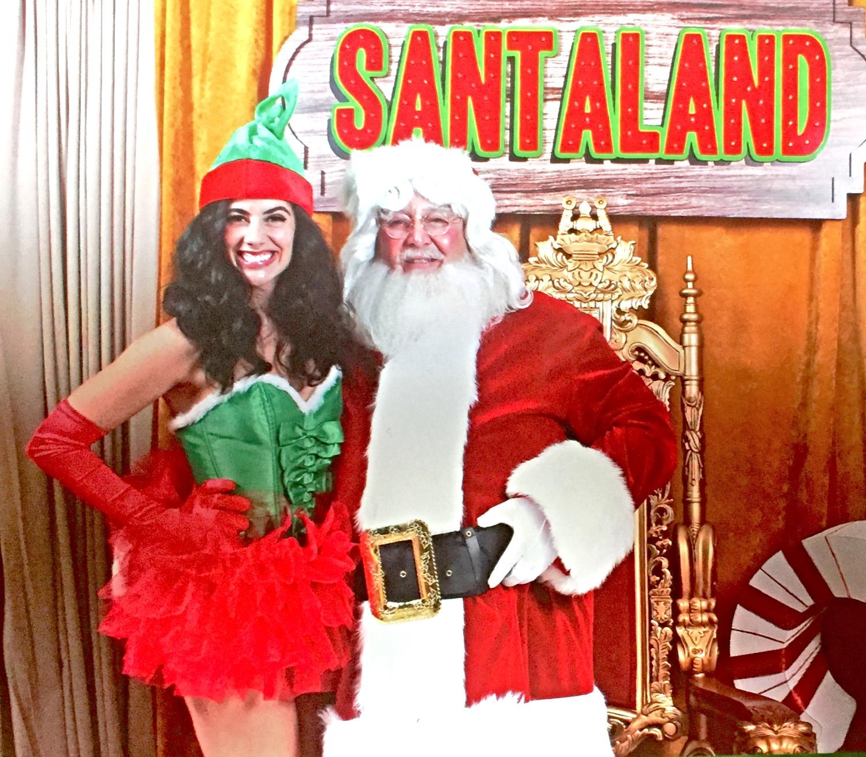Santa and Santa's Helper
